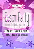 Summer Beach Party Flyer Stock Images