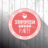 Summer beach party frame on wood background Royalty Free Stock Image