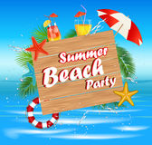 Summer Beach Party Royalty Free Stock Photo