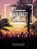 Summer beach party illustration Stock Photos