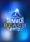 Summer Beach Party poster design Stock Image