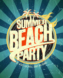 Summer beach party poster. Royalty Free Stock Photos