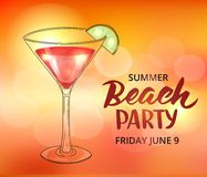 Summer beach party poster template Royalty Free Stock Photo