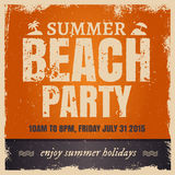 Summer beach party in retro hot style with orange Royalty Free Stock Image