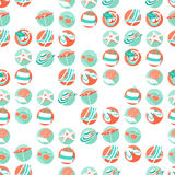 Summer beach party seamless pattern. Flat style. Stock Photo