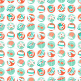 Summer beach party seamless pattern. Flat style. Royalty Free Stock Photo