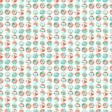Summer beach party seamless pattern. Flat style. Stock Image