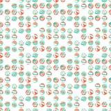 Summer beach party seamless pattern. Flat style. Stock Photos