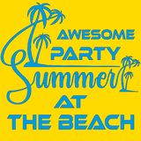 Summer Beach Party Template, Banner or Flyer design with illustration of palm trees vector illustration