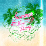 Summer beach Party typographic design Stock Photo