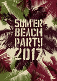 Summer Beach Party typographic grunge vintage poster design. Retro vector illustration. Royalty Free Stock Image