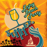 Summer Beach Party Vector Flyer Template Stock Photography