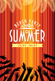 Summer Beach Party Vector Flyer Template Royalty Free Stock Photography