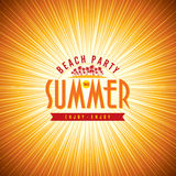 Summer Beach Party Vector Flyer Template Stock Images