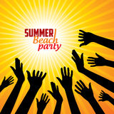 Summer Beach Party Vector Flyer Template. Royalty Free Stock Image