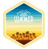 Summer Beach Party Vector Flyer Template. Royalty Free Stock Photos