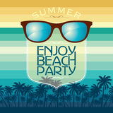 Summer Beach Party Vector Flyer Template. Stock Images