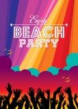 Summer Beach Party Vector Flyer Template. Stock Photos