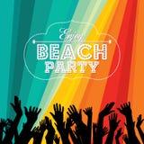 Summer Beach Party Vector.Flyer Template Stock Photo