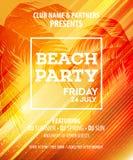 Summer Beach Party Vector Flyer Template Stock Photo