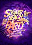 Summer beach party vector poster design Stock Image