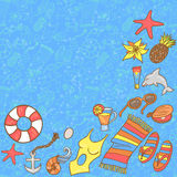 Summer beach pattern background Royalty Free Stock Photo