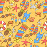 Summer beach pattern Royalty Free Stock Photos