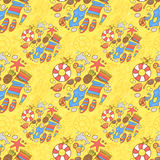 Summer beach pattern Royalty Free Stock Image
