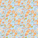 Summer beach pattern Stock Photo