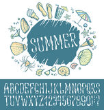 Summer beach pattern Royalty Free Stock Photography