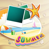 Summer beach with photos Stock Photo