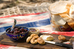 Summer beach picnic Stock Images