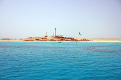 Summer beach on Red Sea in Egypt Royalty Free Stock Images