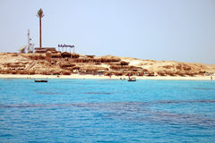 Summer beach on Red Sea in Egypt Royalty Free Stock Photo