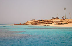 Summer beach on Red Sea in Egypt Royalty Free Stock Image