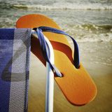 Summer on the beach, with a retro effect Royalty Free Stock Photography