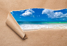 Summer Beach Revealed Stock Photo