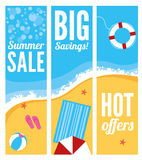 Summer Beach Sale Banners Stock Image