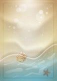 Summer beach sand vector illustration