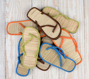 Summer Beach Sandals Stock Images