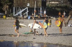 Summer beach scene. Sunset Beach, Malibu, CA Royalty Free Stock Photography