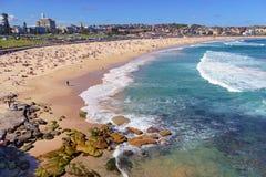 Summer Beach Scene Along Ocean, Sydney Australia Royalty Free Stock Photo