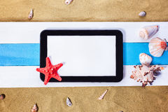Summer Beach Scene Royalty Free Stock Images
