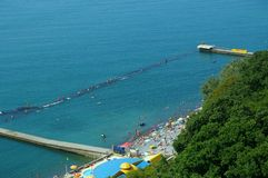 Summer beach and sea. In Sochi, Russia Royalty Free Stock Photo