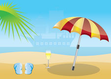 Summer, beach and sea background Royalty Free Stock Photography