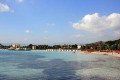 Summer Beach & Sea Water, Mondello Palermo Stock Images