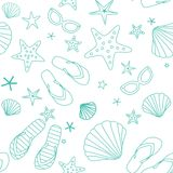 Summer beach seamless pattern Royalty Free Stock Photography