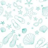 Summer beach seamless pattern Royalty Free Stock Photography