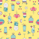 Summer beach seamless pattern Royalty Free Stock Photo