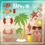 Summer beach set. royalty free illustration